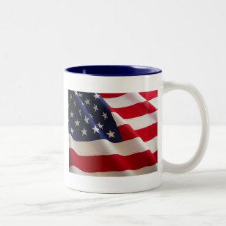 Drapeau américain tasse 2 couleurs