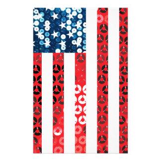 drapeau américain vertical papeterie