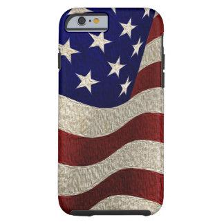 Drapeau américain vintage avec l'effet texturisé coque iPhone 6 tough
