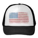Drapeau américain vintage casquettes de camionneur
