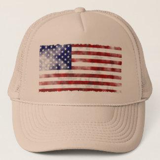 Drapeau américain vintage déchiré en lambeaux casquette
