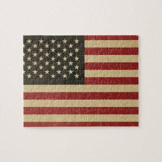 Drapeau américain vintage puzzle