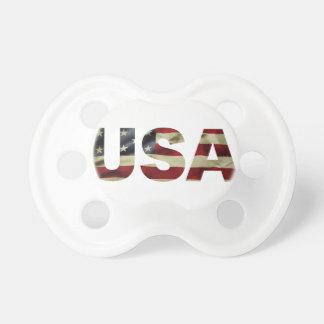 Drapeau américain vintage sucettes pour bébé
