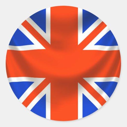 drapeau anglais carr sticker rond zazzle. Black Bedroom Furniture Sets. Home Design Ideas