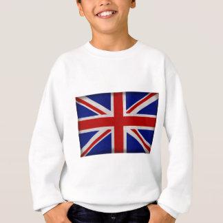 Drapeau Anglais d'Angleterre texturé Sweatshirt