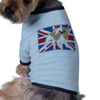 Drapeau anglais de bouledogue t-shirt pour toutou