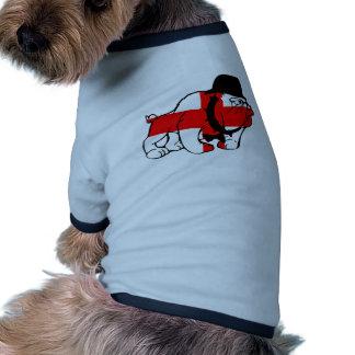 Drapeau anglais de l'anglais de bouledogue t-shirt pour animal domestique