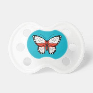 Drapeau anglais de papillon tétines pour bébé