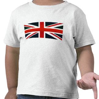 Drapeau anglais dépouillé moderne t-shirts