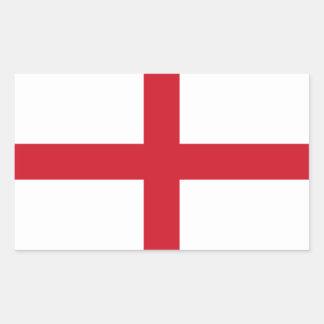 Drapeau anglais sticker rectangulaire