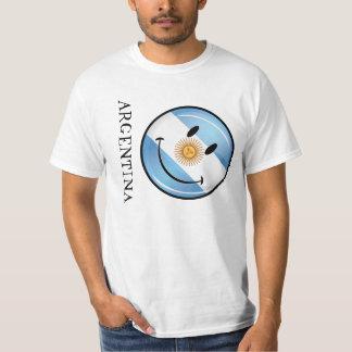 Drapeau argentin de sourire rond t-shirts