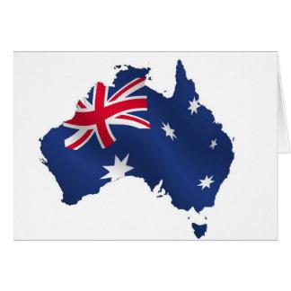 Drapeau australien de carte