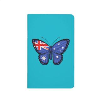 Drapeau australien de papillon carnet de poche