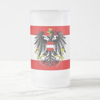 Drapeau autrichien chope givrée