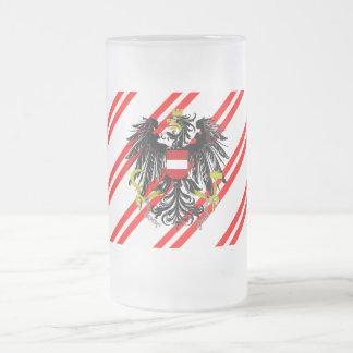 Drapeau autrichien de rayures chope givrée