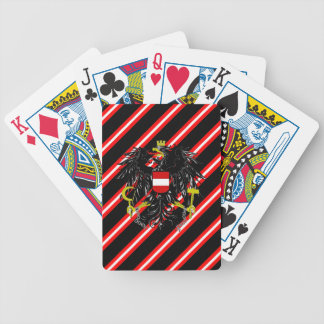 Drapeau autrichien de rayures jeu de cartes