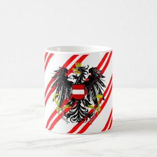 Drapeau autrichien de rayures mug
