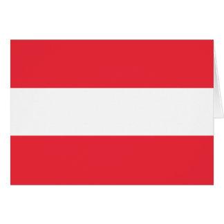 Drapeau autrichien patriotique carte de vœux