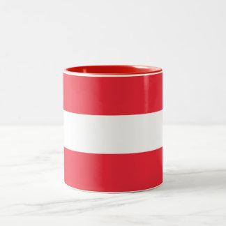 Drapeau autrichien patriotique tasse 2 couleurs