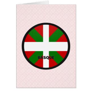Drapeau Basque de qualité de rondeau Carte