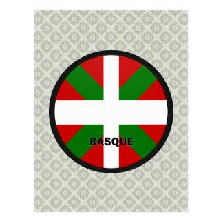 Drapeau Basque de qualité de rondeau Carte Postale