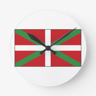 Drapeau Basque Espagne Horloge Ronde