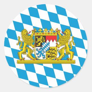 Drapeau bavarois coloré sticker rond
