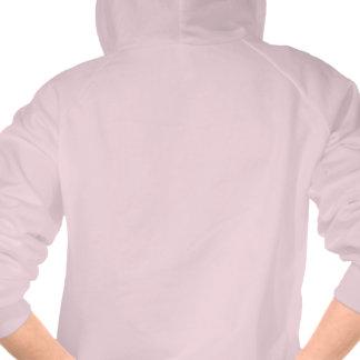 Drapeau belge de silhouette de fille sweatshirt à capuche