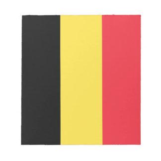 Drapeau belge patriotique bloc-note