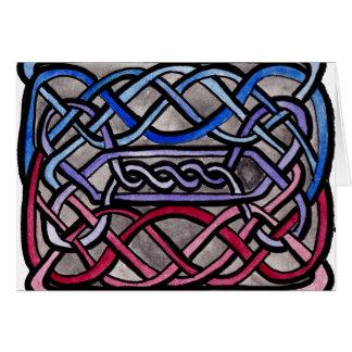 Drapeau bisexuel de Knotwork de Celtic Carte De Vœux