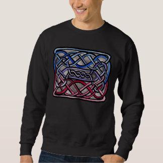 Drapeau bisexuel de Knotwork de Celtic Sweatshirt