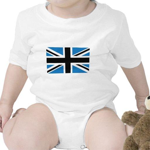 Drapeau bleu-foncé frais d'Union Jack les Anglais  Barboteuse