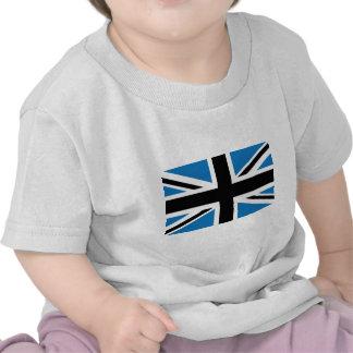 Drapeau bleu-foncé frais d'Union Jack les Anglais  T-shirt
