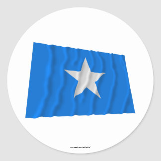 Drapeau bleu mignon/à l'ouest drapeau de adhésif rond