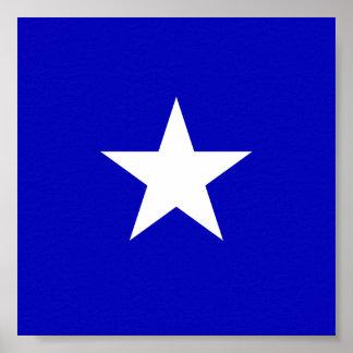 Drapeau bleu mignon poster