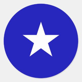 Drapeau bleu mignon sticker rond