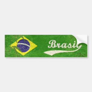 Drapeau brésilien autocollant de voiture