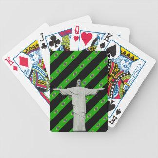 Drapeau brésilien de rayures jeu de cartes