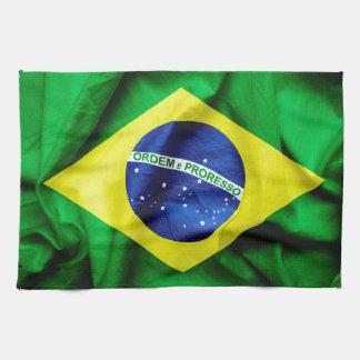 Drapeau brésilien linge de cuisine