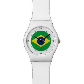 Drapeau brésilien montres cadran