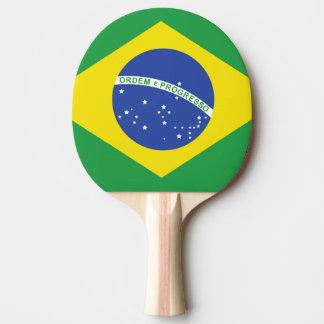 Drapeau brésilien raquette de ping pong