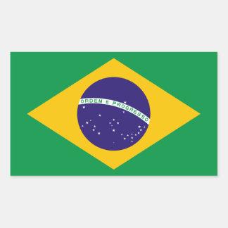 Drapeau brésilien sticker rectangulaire