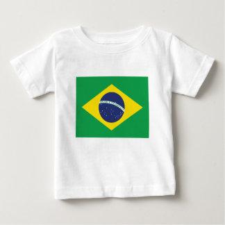 Drapeau brésilien t-shirt pour bébé