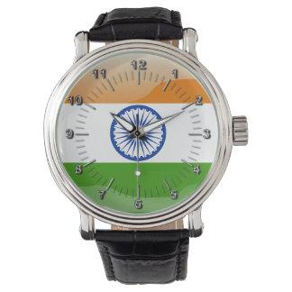 Drapeau brillant indien montres bracelet