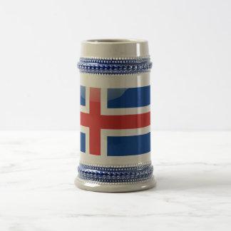 Drapeau brillant islandais chope à bière