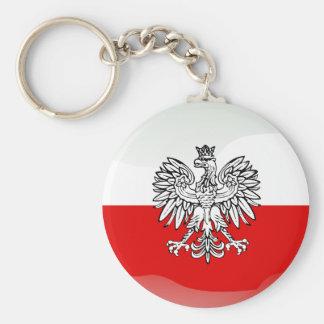 Drapeau brillant polonais porte-clés