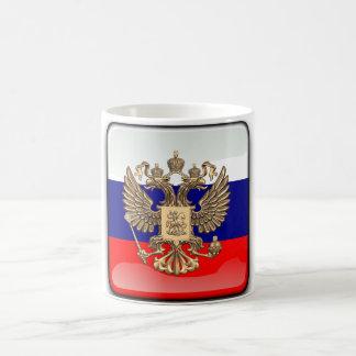 Drapeau brillant russe mug