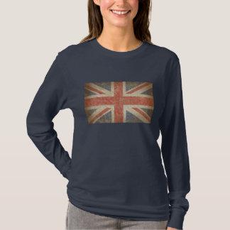 Drapeau britannique affligé t-shirt