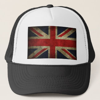 Drapeau britannique antique R-U d'Union Jack Casquette