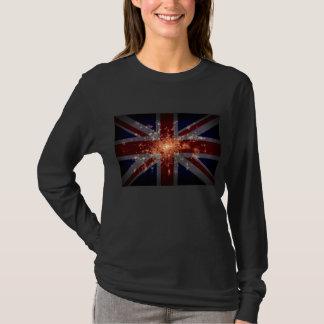 Drapeau BRITANNIQUE au-dessus de Londres la nuit T-shirt